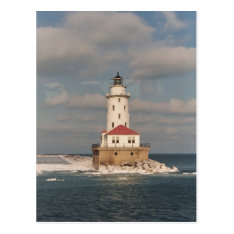 Lake Michigan Lighthouse Postcard at Zazzle