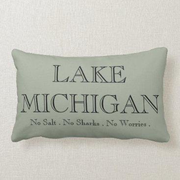 Valentines Themed Lake  Michigan Lumbar Pillow