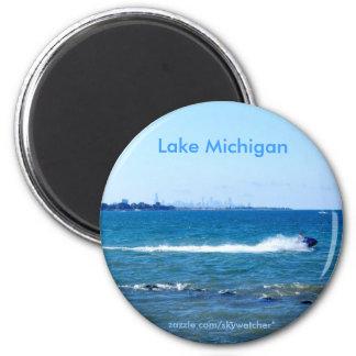 Lake Michigan 2 Inch Round Magnet