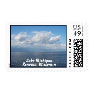 Lake Michigan Postage Stamp (MEDIUM)