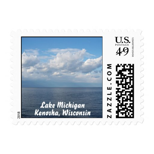 Lake Michigan Postage Stamp (SMALL)