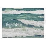 Lake Michigan Rolling Waves Greeting Card