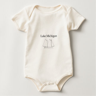 Lake Michigan Sailboat Baby Bodysuit