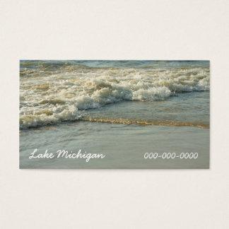 Lake Michigan Sandy Beach Shoreline Ocean Water Business Card