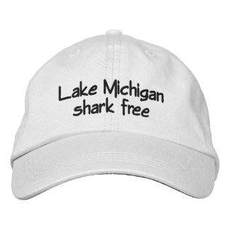Lake Michigan - shark free Embroidered Baseball Cap