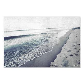 Lake Michigan Shoreline Retro Photographic Print