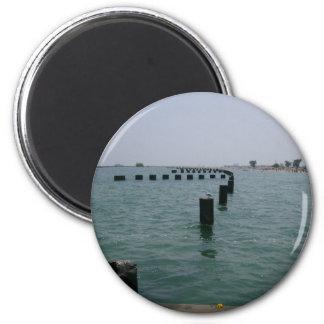 Lake Michigan Shorelines 2 Inch Round Magnet