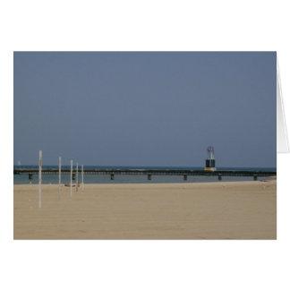 Lake Michigan Shores Beacon Light Card