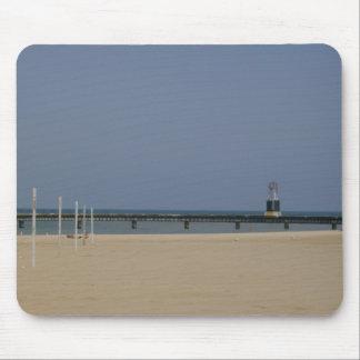 Lake Michigan Shores Beacon Light Mouse Pad