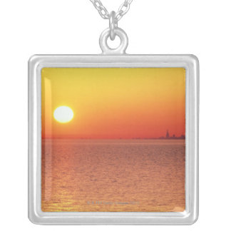 Lake Michigan Silver Plated Necklace