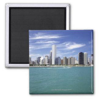 Lake Michigan, Skyline, Travel Destinations, Magnet