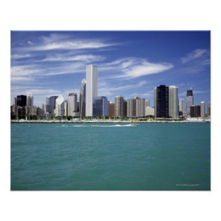 Lake Michigan, Skyline, Travel Destinations, Print