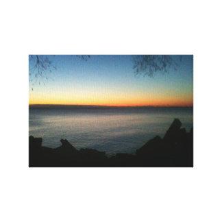 Lake Michigan sunrise Canvas Print