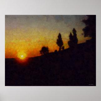 Lake Michigan Sunset Landscape Poster