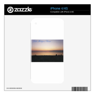 Lake Michigan Sunset Skins For iPhone 4