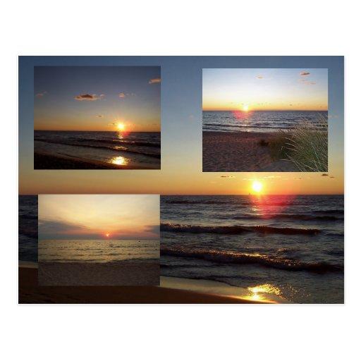 Lake Michigan Sunsets Postcard