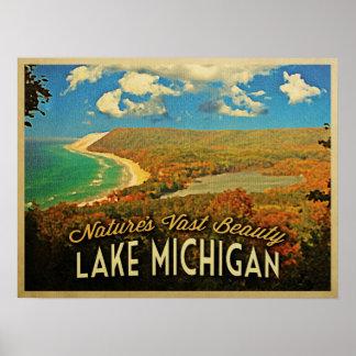 Lake Michigan Vintage Poster