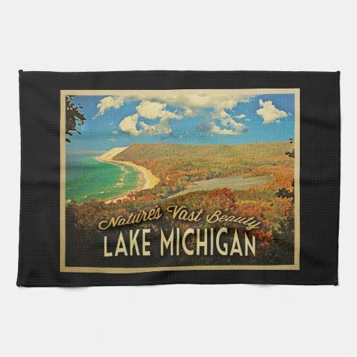 Lake Michigan Vintage Towel