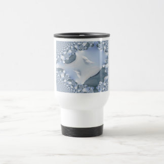 Lake Michigan Waters Fractal Travel Mug