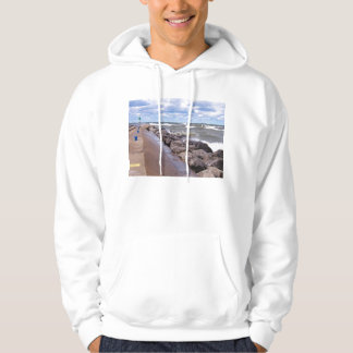 Lake Michigan Waves Hoodie