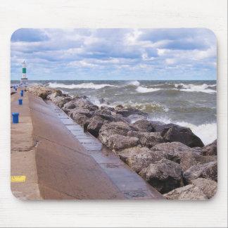 Lake Michigan Waves Mouse Pads