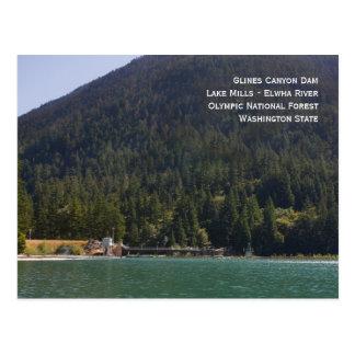 Lake Mills and Glines Canyon Dam Postcard