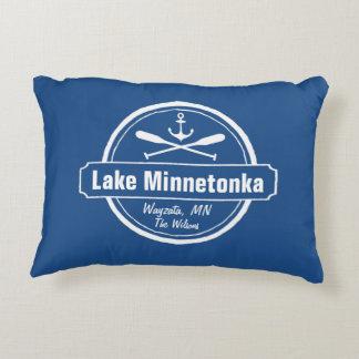 Lake Minnetonka Minnesota anchor town and name Decorative Pillow