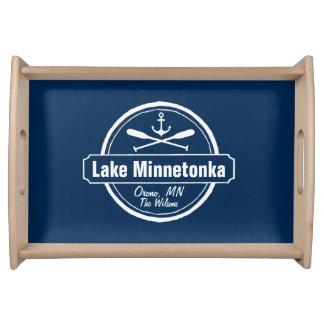 Lake Minnetonka Minnesota anchor town and name Serving Tray