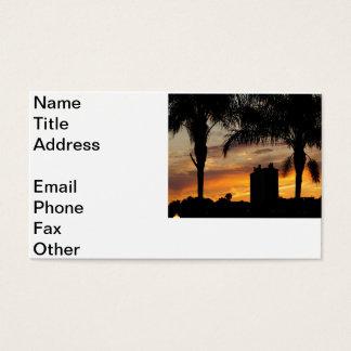 Lake Mirror Sunset Business Card