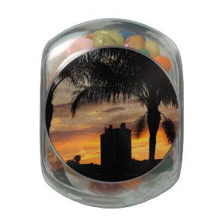 Lake Mirror Sunset Glass Jars