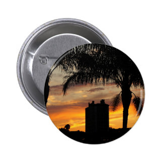Lake Mirror Sunset Pinback Button