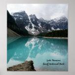 Lake Moraine, Banff National Park Poster