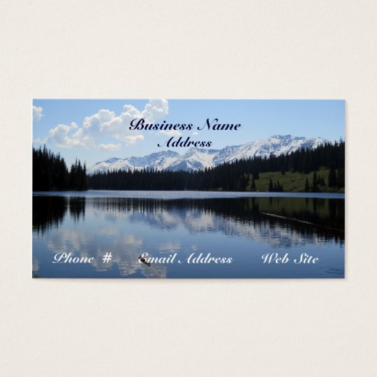 Lake  Mountains Scenic  Beauty Business Cards