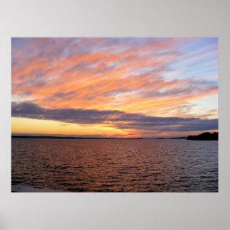 Lake Murray Sunset Poster