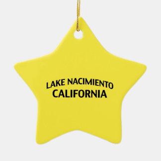Lake Nacimiento California Ceramic Ornament
