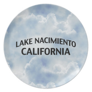 Lake Nacimiento California Melamine Plate