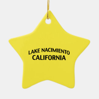 Lake Nacimiento California Double-Sided Star Ceramic Christmas Ornament