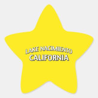 Lake Nacimiento California Star Sticker