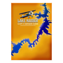 Lake Nasser Egypt and Sudan Map