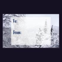 Lake Nojiri Gift Tag Stickers