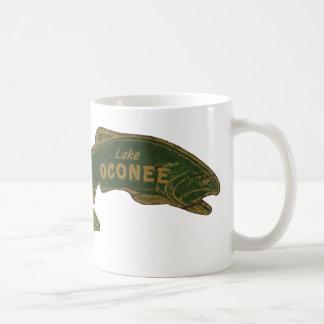 Lake Oconee Classic White Coffee Mug