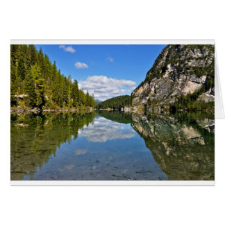 Lake of Braies, Italy Card