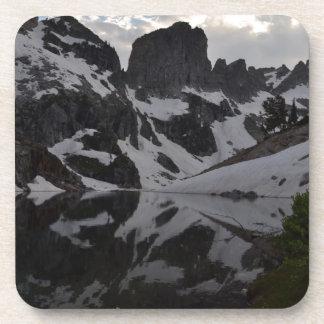 Lake of Crags reflection Grand Teton National Park Drink Coaster
