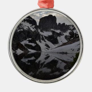 Lake of Crags reflection Grand Teton National Park Metal Ornament