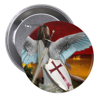 lake of fire 3 inch round button