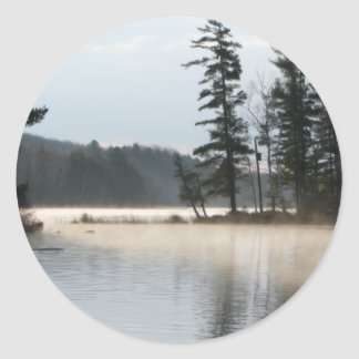 Lake of Fog Classic Round Sticker