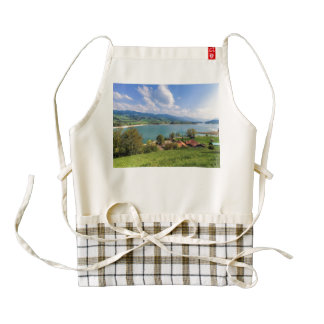 Lake of Gruyere, Switzerland Zazzle HEART Apron