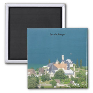 Lake of Le Bourget - 2 Inch Square Magnet
