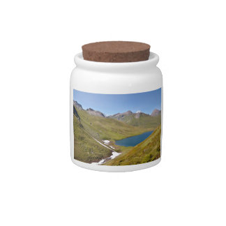 Lake of Longet in Italy Candy Jars