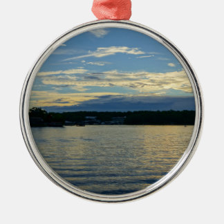 Lake Of The Ozarks Blue Sunset Metal Ornament
